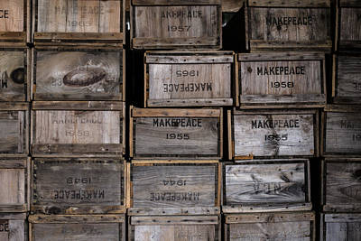 Cape Cod Cranberry Crates Poster by Andrew Pacheco
