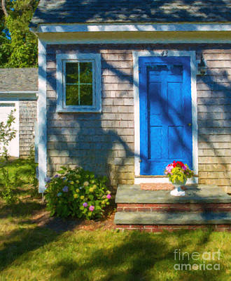 Cape Cod House Poster by Diane Diederich