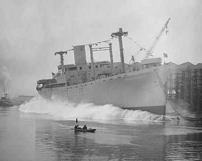 Cape Comfort Cargo Ship Launch Poster