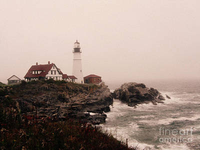 Cape Elizabeth In The Mist Poster