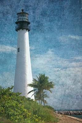 Cape Florida Lighthouse 2 Poster by Rudy Umans