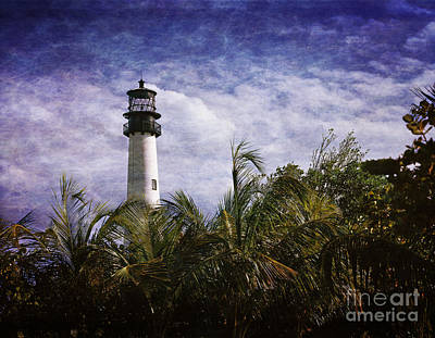 Cape Florida  Lighthouse  Poster by Heinz G Mielke
