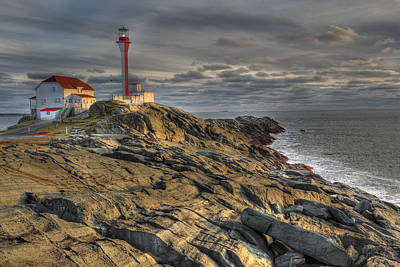 Cape Forchu Lightstation Nova Scotia Poster by Scott Leslie