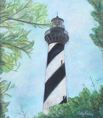 Cape Hatteras Light Poster by Cathy Lindsey