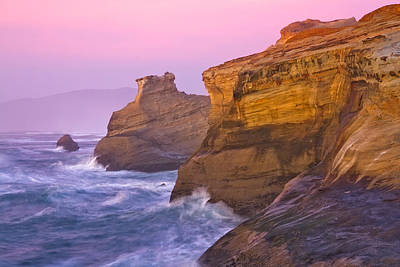 Cape Kiwanda At Sunset Poster