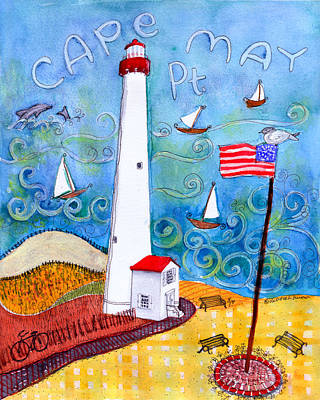 Cape May Point Lighthouse Poster by Deborah Burow