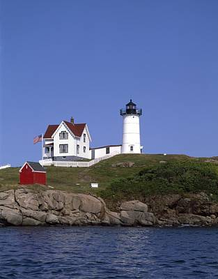 Cape Neddick Light Station In Maine Poster by Mountain Dreams