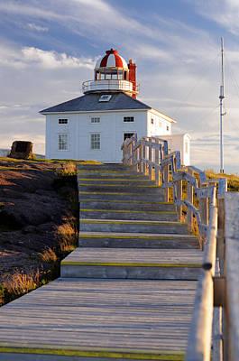 Cape Spear Lighthouse Boardwalk Poster by Norman Pogson