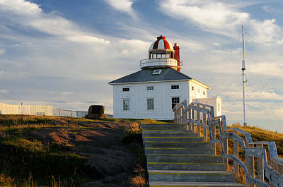 Cape Spear Newfoundland Lighthouse Poster by Norman Pogson