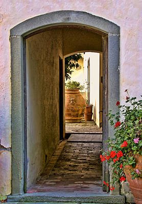 Capezzana Doorway Poster by Gej Jones