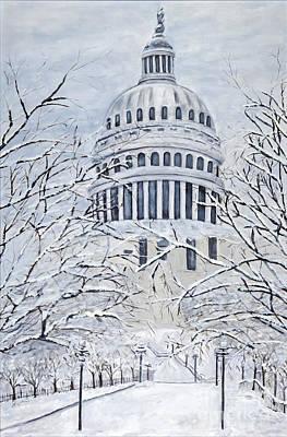 Capital Blizzard 2010 By Charlotte Levitan Poster