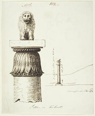 Capital Of The Lion Pillar At Basarh Poster
