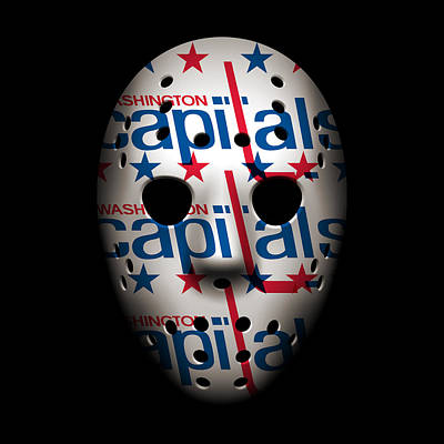 Capitals Goalie Mask Poster by Joe Hamilton