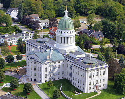 Capitol Building, Augusta Poster