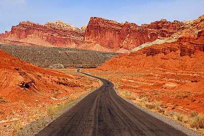 Capitol Reef Road Vii Poster