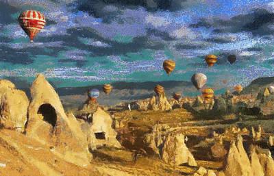 Cappadocia Ballons Fiesta Poster
