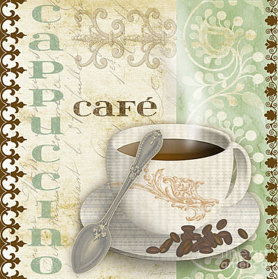 Cappuccino-jp2254-green Poster by Jean Plout