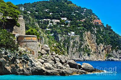 Capri Italy Poster by Liesl Marelli