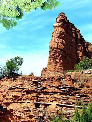 Poster featuring the photograph Caprock Canyon Red by Linda Cox
