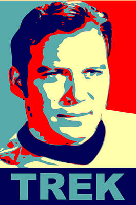 Capt. Kirk Pop Poster by Paul Van Scott