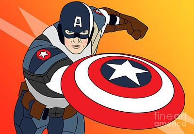 Captain America Poster by Mark Ashkenazi