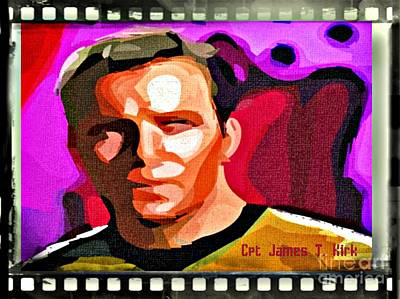 Captain James T Kirk Poster by John Malone