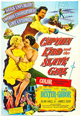 Captain Kidd And The Slave Girl, Us Poster