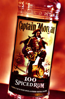 Captain Morgan Red Toned Poster by Janie Johnson