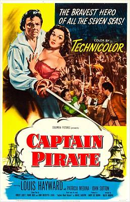 Captain Pirate, Aka Captain Blood Poster by Everett