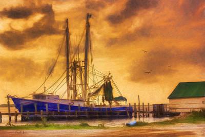 Shrimp Boat - Dock - Captain Ricky's Boat Poster