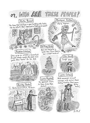 Captionless Who Are These People? Poster by Roz Chast