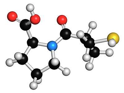 Captopril High Blood Pressure Drug Poster by Molekuul