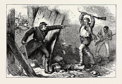 Capture Of John Brown In The Engine House Poster by American School