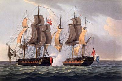 Capture Of La Proserpine Poster by Thomas Whitcombe