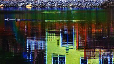 New England Landscape Illusion Poster