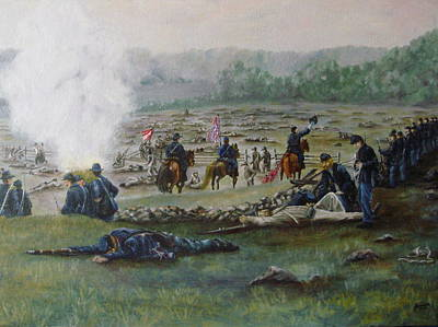 Capturing The Flag-picketts Charge Poster by Joann Renner