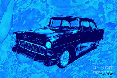 Car Art Chevy Nbr 459 Blues Poster