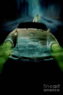 Car Chase At Night Poster