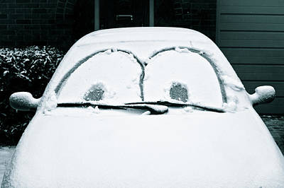 Car Covered In Snow Poster