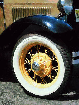 Car Wheel Closeup Poster by Susan Savad