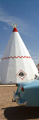 Car With A Teepee In The Background Poster by Panoramic Images