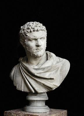 Caracalla. 212 - 217. Bust. Sculpture Poster