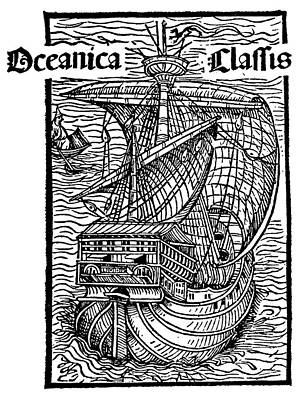 Caravel Lateen-sail, 1493 Poster by Granger
