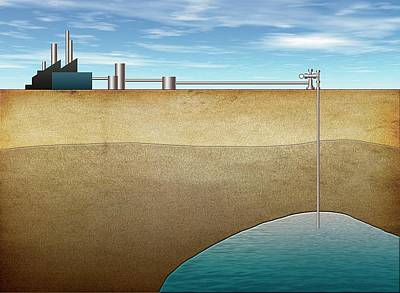 Carbon Capture Technology Poster by Mikkel Juul Jensen