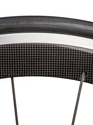 Carbon Fibre Bicycle Wheel Poster by Science Photo Library