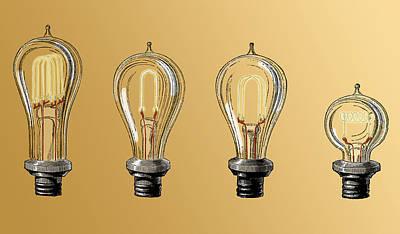 Carbon Filament Light Bulbs, 19th Poster