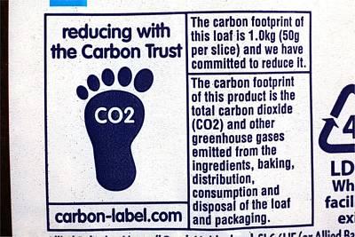 Carbon Footprint Label Poster
