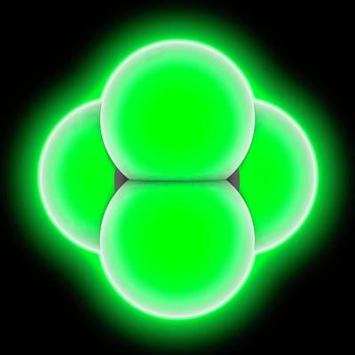 Carbon Tetrachloride Molecule Poster by Laguna Design