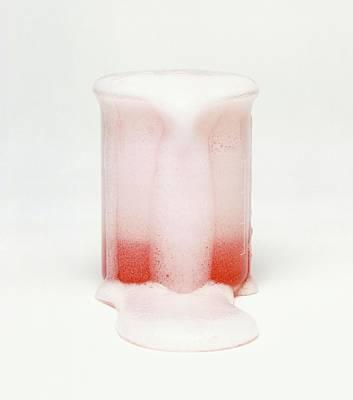 Carbonated Drink Overflowing From Beaker Poster by Dorling Kindersley/uig