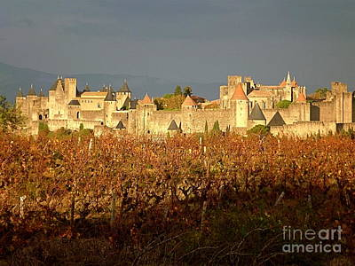 Carcassonne In Fall Poster